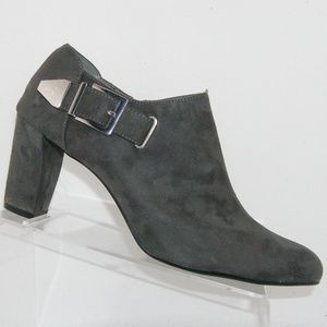 Aerosoles Effortless gray zip buckle booties 12W